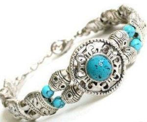 9eea76c4015f Pulsera de plata artesanal con turquesas n11 – Brazaletes y Sortijas