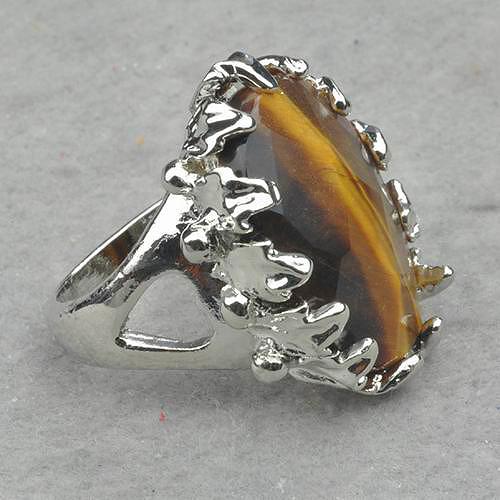 e9dd59acc45 Anillo oro blanco piedra semipreciosa ojo de tigre n1524 – Brazaletes y  Sortijas