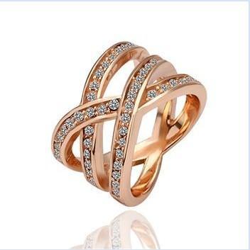 895074e80c62 Anillo de oro rosa con cristal swarovski original n971