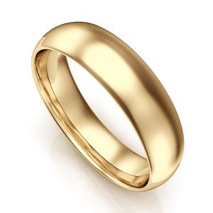 Venta caliente genuino más tarde elegante en estilo Anillo alianza de boda de oro de 6 mm de ancho n2110