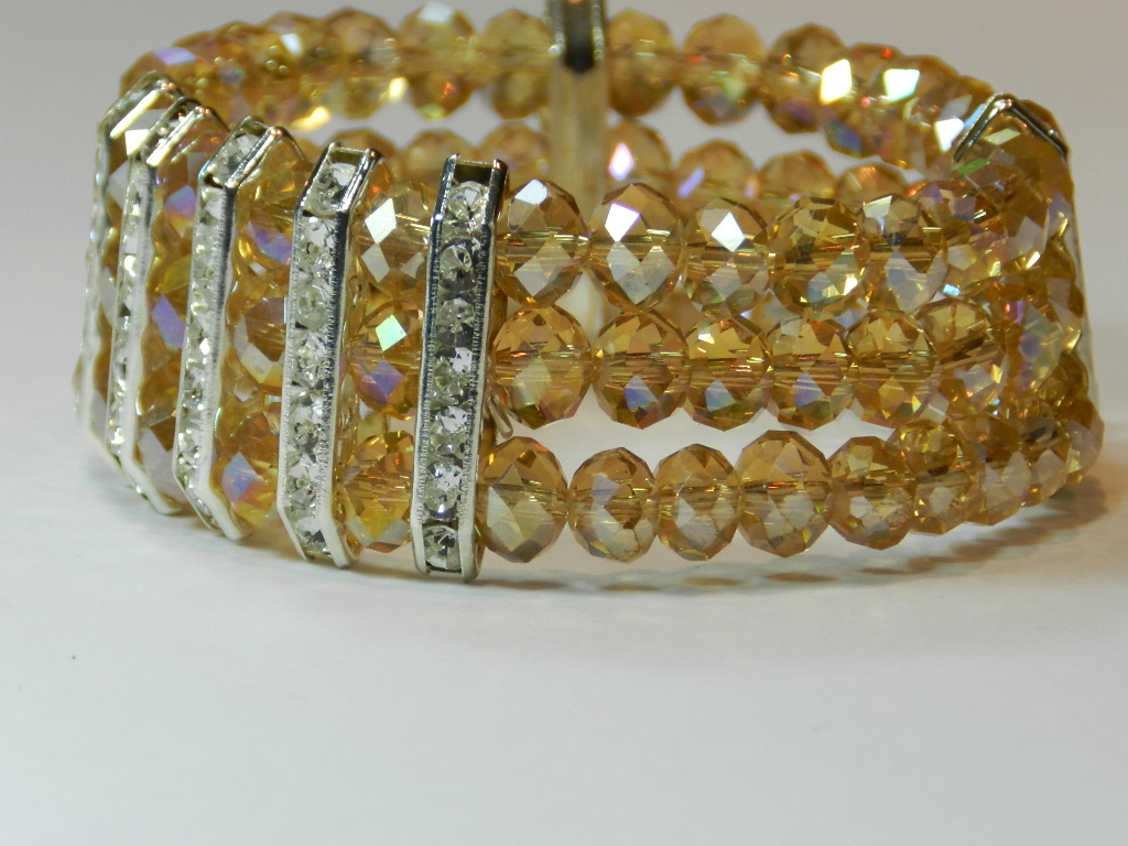 bisuteria,pulsera,brazalete,cristal,facetado,n891