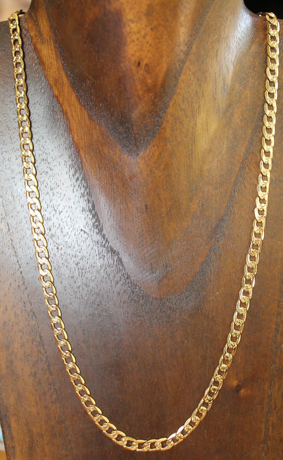 zapatos de separación f1774 819d6 Collar cadena de oro para hombre n996
