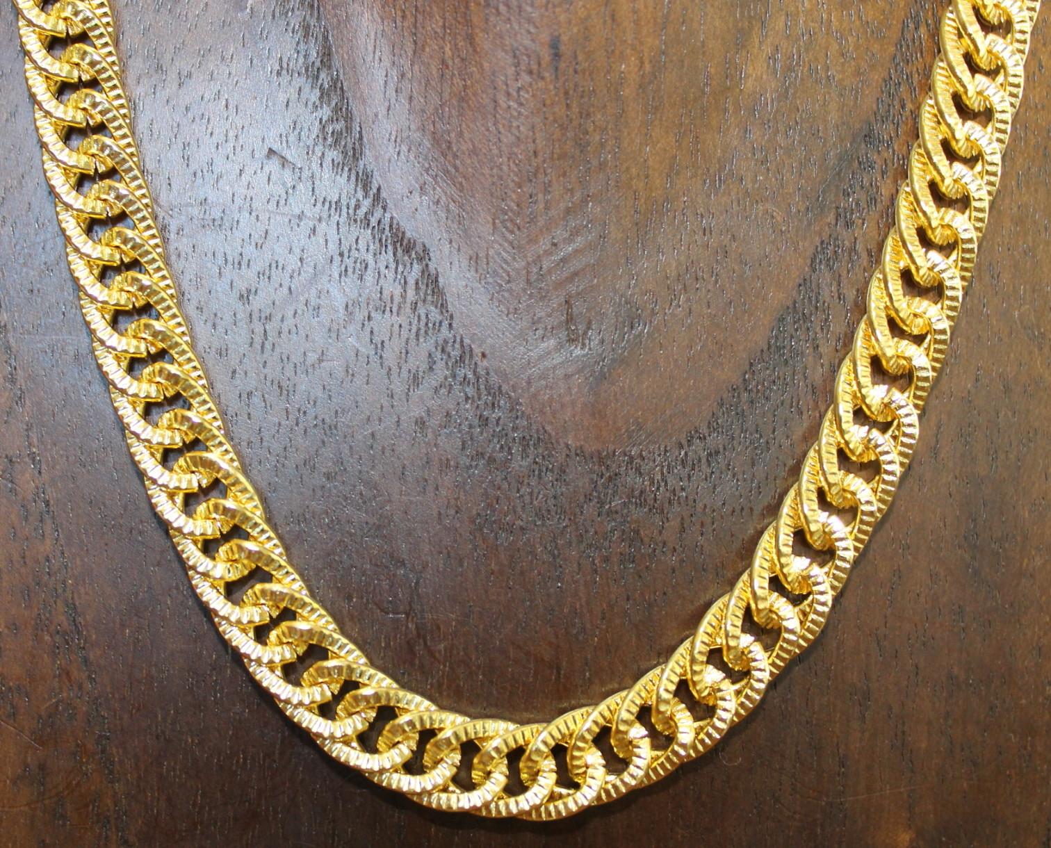 diseño atemporal 87fa2 27b0e Collar de oro muy grueso, original, n2700