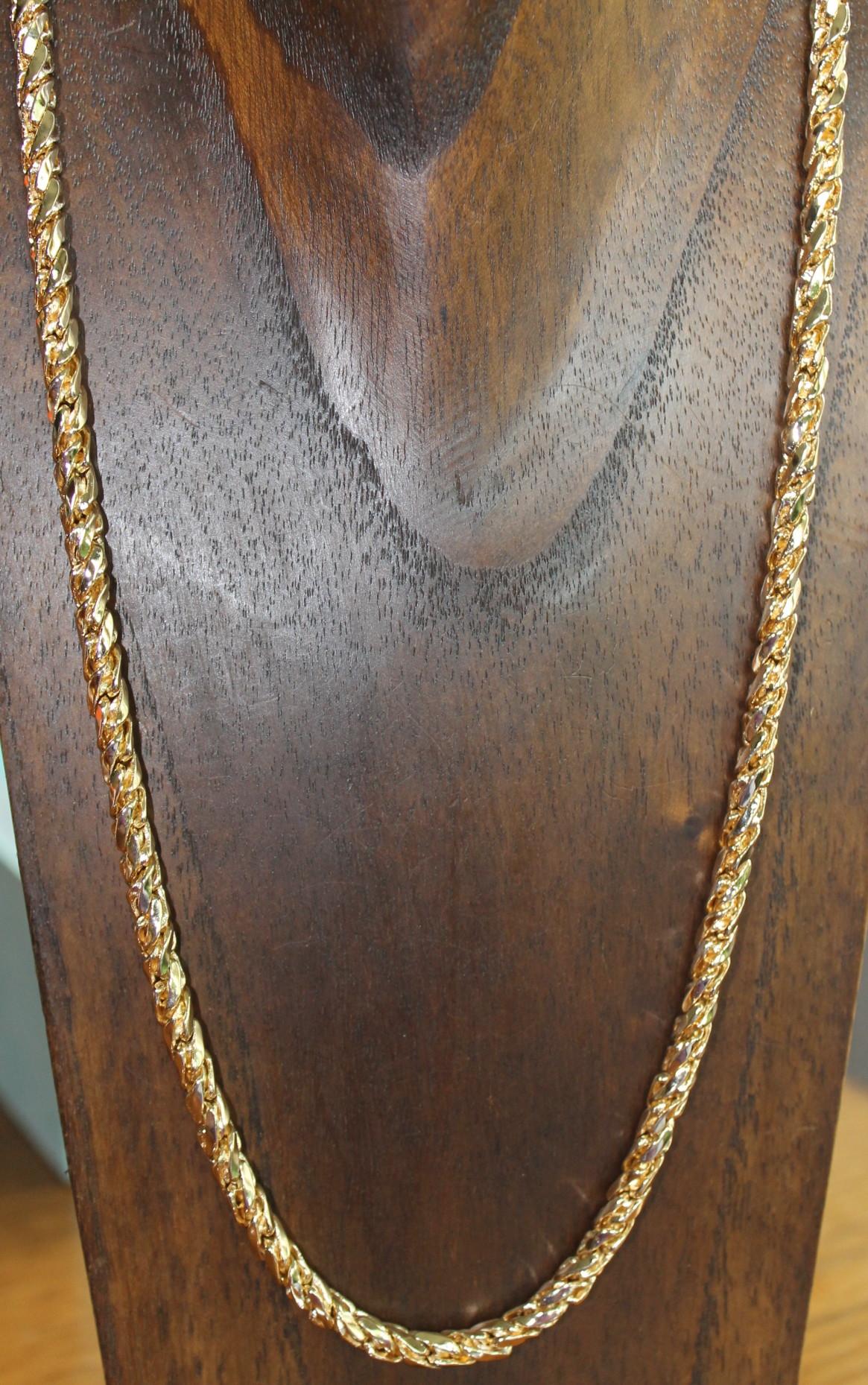 ebdfc173302a Collar cordón para unisex de oro
