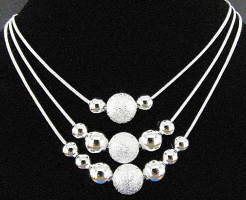fotos oficiales 6d396 638c1 Collar plata de ley de diseño exclusivo n120