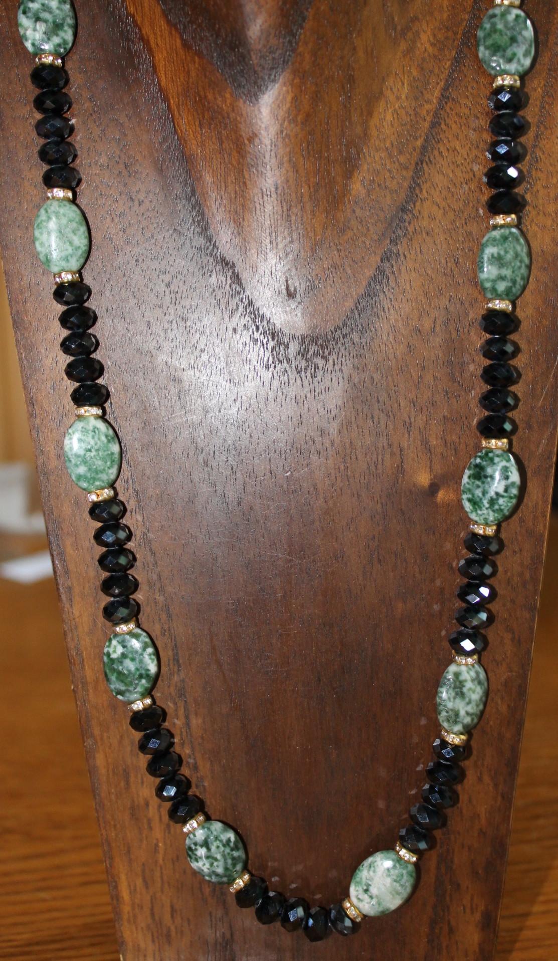 2beafa92d5ee Collar de cristal de Swarovski y piedras semipreciosas n1791 – Brazaletes y  Sortijas