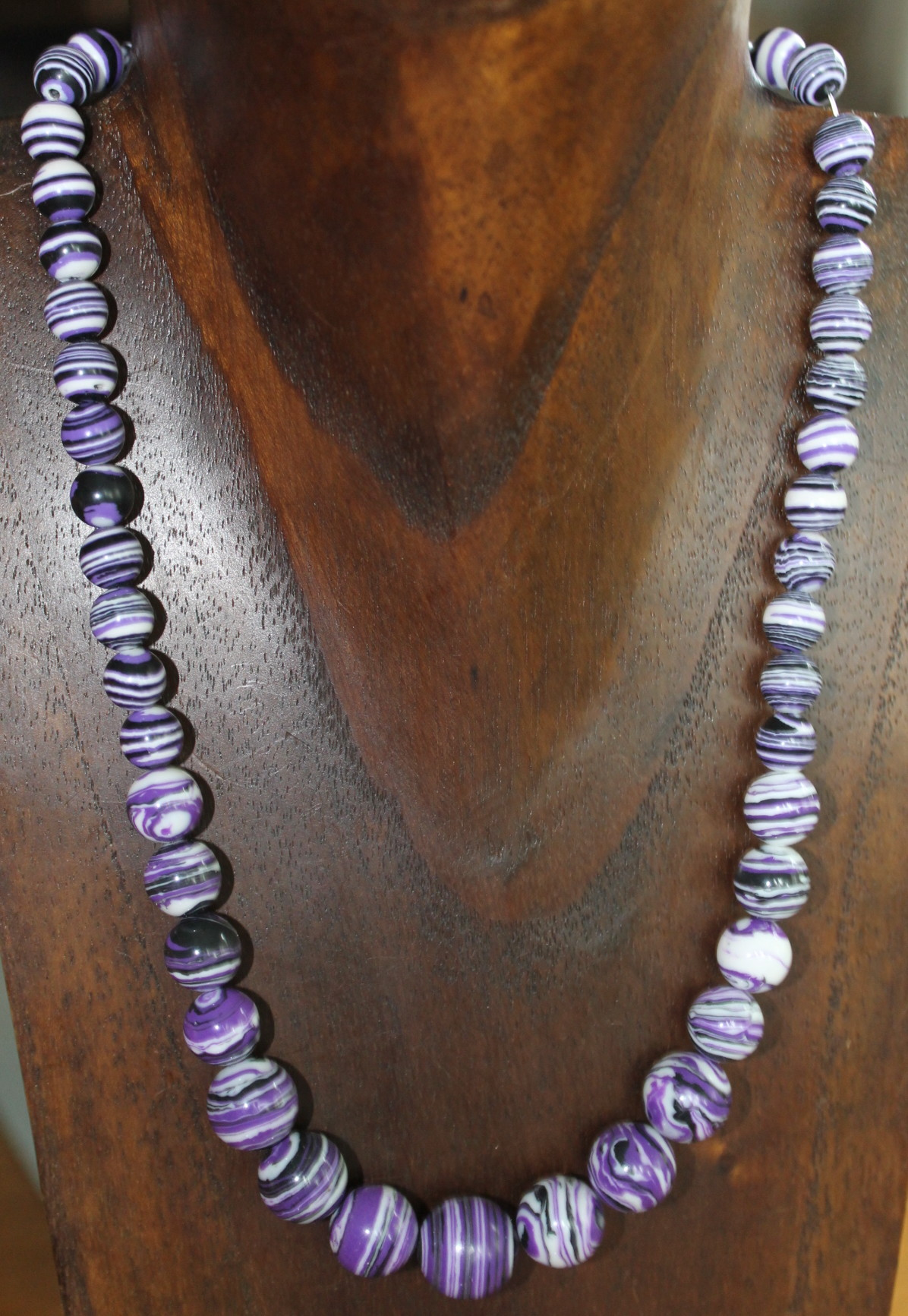 Collar de piedras semipreciosas perlas de turquesas, de moda n77