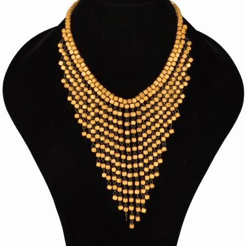 1fbec38b9da3 Collar de bisutería de madera largo artesanal n1519 – Brazaletes y Sortijas