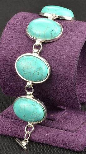 a70e27cd36fe Pulsera artesanal de plata tibetana y turquesas n1251 – Brazaletes y  Sortijas
