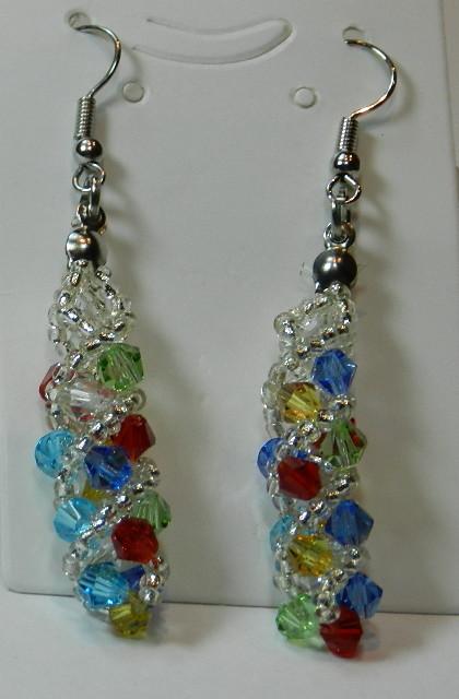 f7346cfcec24 Pendientes largos de moda de cristal multicolor n775 – Brazaletes y Sortijas