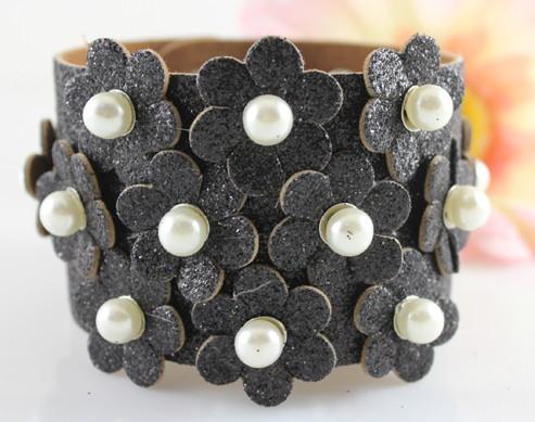 c5dd00a586e0 Brazalete de cuero artesanal de moda n2415 – Brazaletes y Sortijas