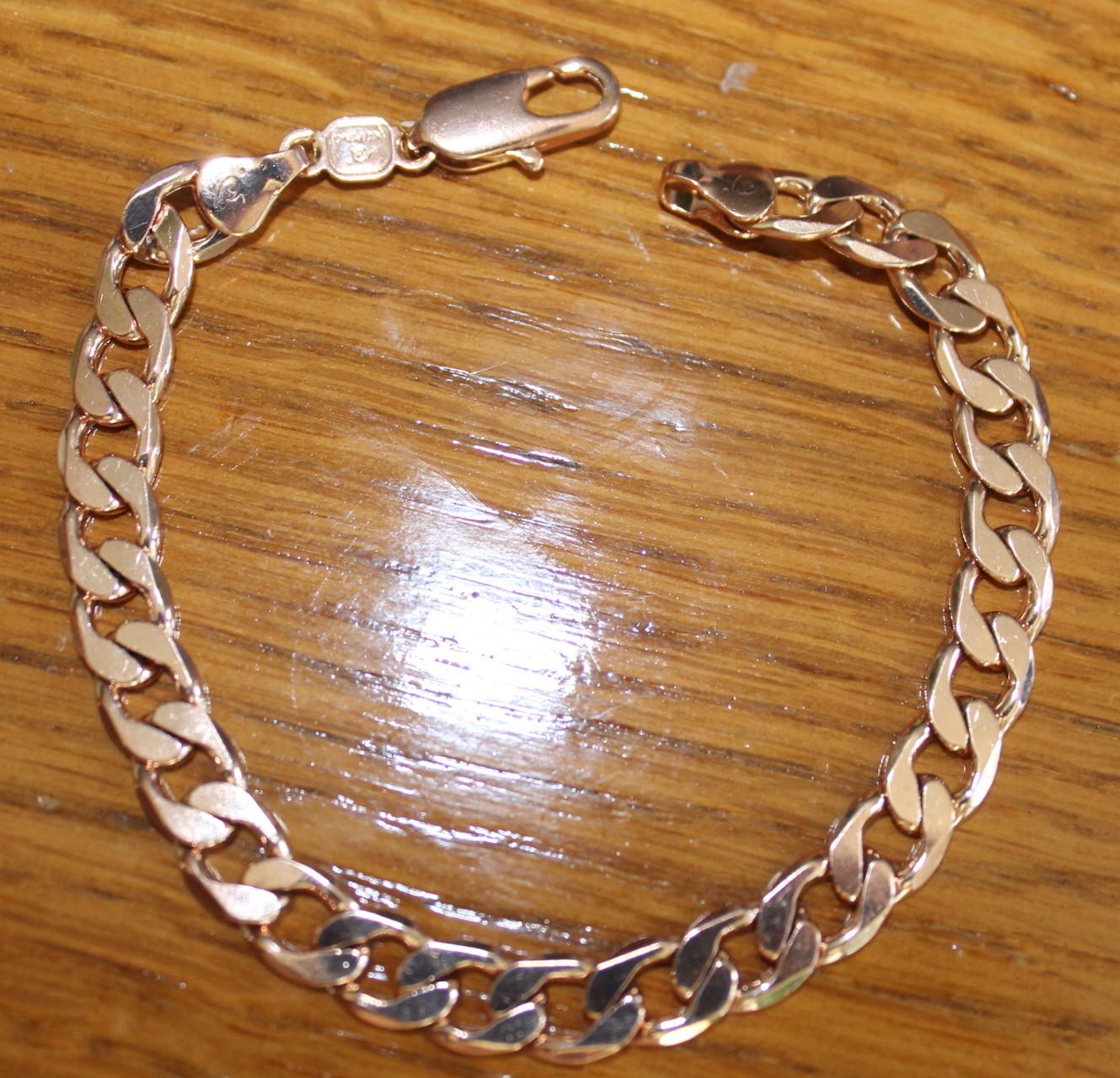 textura clara ventas calientes 100% de garantía de satisfacción Pulsera de oro clásica de cadena de moda n2379