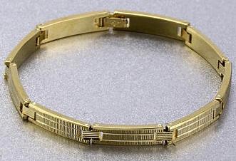 62f532148f25 Pulsera oro diseño para hombre n974 – Brazaletes y Sortijas