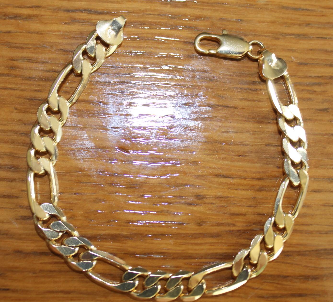 Pulsera cl sica de oro muy de moda n2378 brazaletes y - Bano de oro ...