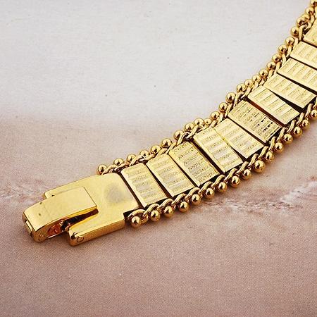 7ac637677f64 Pulsera de oro ancha 1